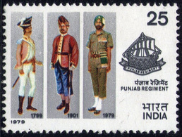 INDIA STAMPS, 20 FEB 1979, PUNJAB REGIMENT, MNH - India