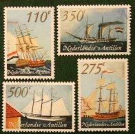 Schepen Ships Schiffe Navires NVPH 1347-1350 2001 Gestempeld USED NEDERLANDSE ANTILLEN / NETHERLANDS ANTILLES - Curaçao, Nederlandse Antillen, Aruba