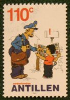 110 Ct Strippostzegel Cartoon NVPH 1359 2001 Gestempeld USED  NEDERLANDSE ANTILLEN NETHERLANDS ANTILLES - Curaçao, Nederlandse Antillen, Aruba