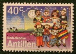 40 Ct Decemberzegels NVPH 1374 2001 Gestempeld USED NEDERLANDSE ANTILLEN NETHERLANDS ANTILLES - Curaçao, Nederlandse Antillen, Aruba