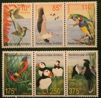 Birds Vogels Oiseaux Pajaros NVPH 1363-1368 2001 Gestempeld USED NEDERLANDSE ANTILLEN NETHERLANDS ANTILLES - Curaçao, Nederlandse Antillen, Aruba