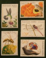 Fauna Bird Insects NVPH 1381-1385 2002 Gestempeld USED NEDERLANDSE ANTILLEN / NETHERLANDS ANTILLES - Curaçao, Nederlandse Antillen, Aruba