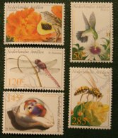 Fauna Bird Insects NVPH 1381-1385 2002 Gestempeld USED NEDERLANDSE ANTILLEN / NETHERLANDS ANTILLES - Niederländische Antillen, Curaçao, Aruba