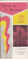 PORTUGAL TOURISM BROCHURE - VISEU - FEIRA DE S. MATEUS - 1959 - Dépliants Turistici