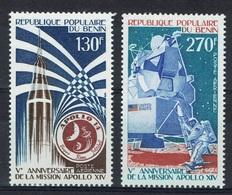 Benin, Apollo 14, 1976, MNH VF  Airmail  A Pair - Benin - Dahomey (1960-...)