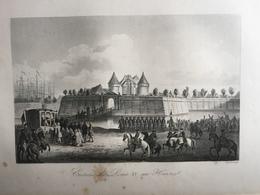 (Normandie) Le Havre: Entrée De Louis XV Au Havre. Gravure De 1840. - Normandie