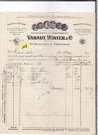 Une Facture :  Ets  Varaut &Winter : Mercerie  Dentelles Cravattes Année 1928 (nombreuses Factures Dans Mes Annonces ) - Kleidung & Textil