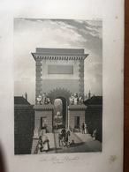 (Normandie) Le Havre: La Porte Royale. Gravure à L'aquatinte De 1840. - Normandie