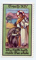 CINDERELLA STAMPS : RELIGION - TRINITY XIV - THY FAITH HATH MADE THEE WHOLE - Cinderellas
