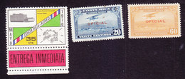 Costa Rica, Scott #CE1, CO4, CO8, Used/Mint Hinged, UPU, Plane Overprinted, Issued 1970, 1934 - Costa Rica