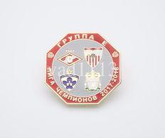 Badge Pin: UEFA Champions League Group E 2017-18 Sevilla, Spartak Moscow. Liverpool, Maribor - Football