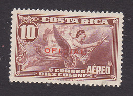 Costa Rica, Scott #CO13, Mint Hinged, Allegory Of Flight Overprinted, Issued 1934 - Costa Rica