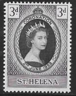 St. Helema, Scott # 139 Mint Hinged Coronation, 1953 - Saint Helena Island