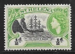 St. Helema, Scott # 140 Mint Hinged Badge Of The Colony, 1953 - Saint Helena Island