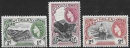 St. Helena, Scott # 141-3 Mint Hinged Various Designs, 1953 - Saint Helena Island