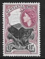 St. Helena, Scott # 142 Mint Hinged Waterfall, 1953 - Saint Helena Island