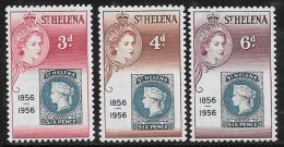 St. Helena, Scott # 153-5 Mint Hinged Stamp Cent, 1956 - Saint Helena Island