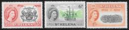 St. Helena, Scott # 156-8 Mint Hinged Settlement Anniversary, 1959 - Saint Helena Island