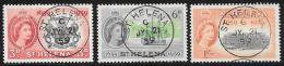 St. Helena, Scott # 156-8 Used Settlement Anniversary, 1959 - Saint Helena Island