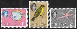 St. Helena, Scott # 159-61 MNH Fish, Bird, Starfish, 1961 - Saint Helena Island