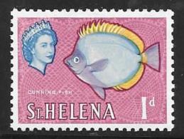 St. Helena, Scott # 159 Mint Hinged Fish, 1961 - Saint Helena Island