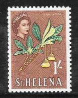 St. Helena, Scott # 167 Mint Hinged Gumwood Flowers, 1961 - Saint Helena Island