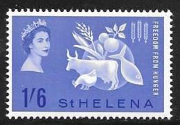 St. Helena, Scott # 173 Mint Hinged Freedom From Hunger, 1963 - Saint Helena Island