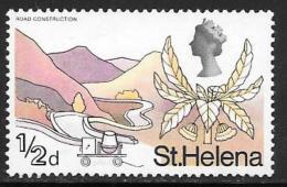 St. Helena, Scott # 209 Mint Hinged Road Construction, 1968 - Saint Helena Island