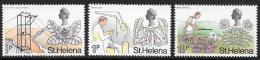 St. Helena, Scott #244-6 Mint Hinged Various Designs, 1971 - Saint Helena Island