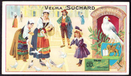 CHROMO Chocolat SUCHARD   Animaux   Venise Venice   Pigeons   Serie 161 - Suchard