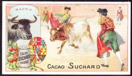 CHROMO Chocolat SUCHARD   Animaux  Course De Taureaux Madrid  Espagne Spain  Bullfight Serie 161 - Suchard