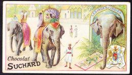 CHROMO Chocolat SUCHARD   Animaux  Les Indes India Elephants Serie 161 - Suchard