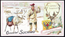 CHROMO Chocolat SUCHARD   Animaux  Laponie Lapland Caribou Rendier  Serie 161 - Suchard