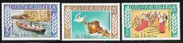 St. Helena, Scott #311-3 Mint Hinged Silver Jubilee, 1977 - Saint Helena Island