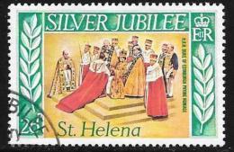 St. Helena, Scott #313 Used Silver Jubilee, 1977 - Saint Helena Island