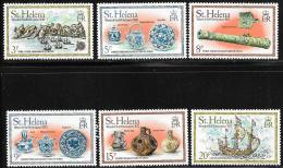 St. Helena, Scott #318-23 MNH Wreck Of Ship Witte Leeuw, 1978 - Saint Helena Island