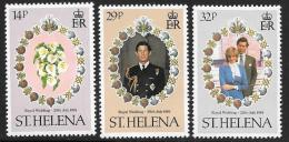 St. Helena, Scott #353-5 MNH Royal Wedding, 1981 - Saint Helena Island