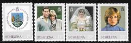 St. Helena, Scott #372-5 MNH Princess Diana Issue, 1982 - Saint Helena Island
