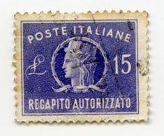 CINDERELLA STAMP : ITALY - POSTE ITALIANE RECAPITO AUTORIZZATO L. 15 - Cinderellas