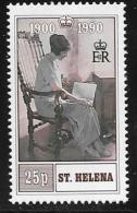 St. Helena, Scott #532 Mint Hinged Queen Mother 90th Birthday, 1990 - Saint Helena Island