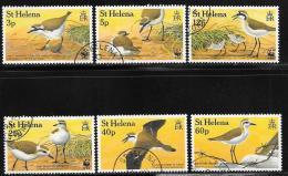 St. Helena, Scott #593-8 Used Birds, 1993 - Saint Helena Island
