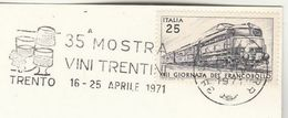 1971 TRENTO WINE EVENT COVER  Card Italy Stamps Alcohol Drink Slogan - Wines & Alcohols
