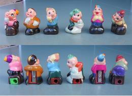 Personaggi Strani,strange Characters. 6 Gypsum N° 102, Temperamatite, Pencil-sharpener, Taille Crayon,Anspitzer.With Box - Altre Collezioni