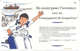 """""""EN AVANT POUR L'AVENTURE AVEC LES COMPAGNONS DE JACQUELINE"""" CHOCOLAT MENIER"""" - Enfants"""