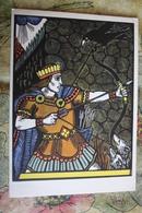 "Lithuanian Fairy Tale - OLD USSR  Postcard -  ""Sun Saviour "" By Makunaite - 1961 -  - Arch / Archer - Tir à L'Arc"