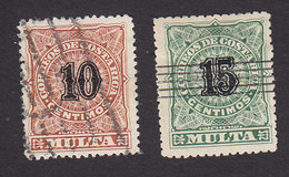 Costa Rica, Scott #J2-J3, Used, Postage Due, Issued 1903 - Costa Rica