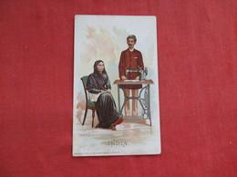 Singer Sewing Trade Card 1892 India   > Ref 2814 - Advertising