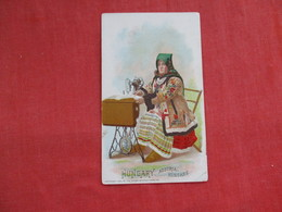 Singer Sewing Trade Card 1892 Hungary > Ref 2814 - Advertising