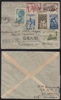 AOF - SENEGAL - DAKAR - OUAKAM / 1947 LETTRE AVION POUR LA FRANCE (ref LE2003) - Lettres & Documents