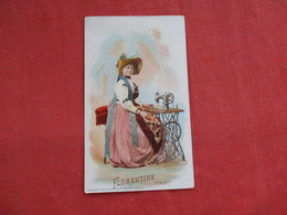 Singer Sewing Trade Card 1892  Florentine Italy   > Ref 2814 - Advertising